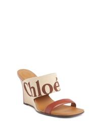 Chloé Verena Logo Wedge Sandal