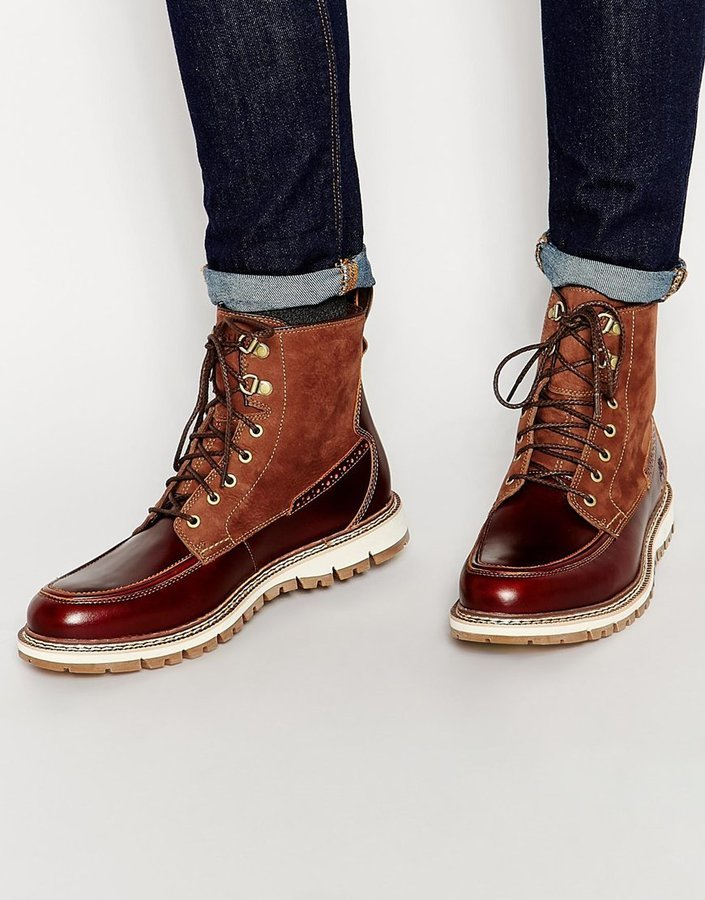 3bf28273ae Timberland Britton Heel Moc Toe Boots, $208   Asos   Lookastic.com