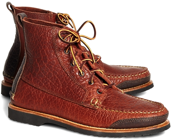 c875b7f5ddeb2 ... Work Boots Brooks Brothers Rugged Leather Boots ...
