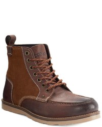 Crevo Elk Rugged Moc Toe Ankle Boots