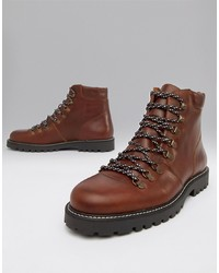 Selected Homme Leather Hiker Boots