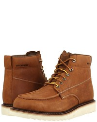 050b4634e28 Men's Leather Work Boots by Wolverine | Men's Fashion | Lookastic.com