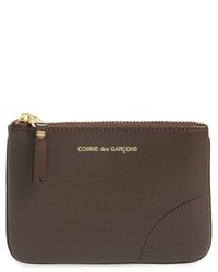 Comme des Garcons Leather Pouch Brown