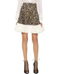 Leopard knit miniskirt medium 333660
