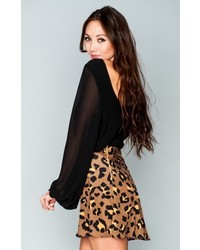 MUMU Skater Mini Skirt Golden Grahams