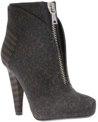 Brown Leopard Ankle Boots