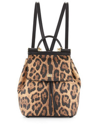 Miss sicily leopard print backpack medium 650311