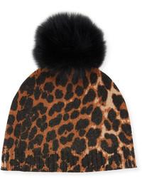 Brown Leopard Beanie