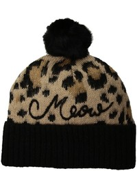 Kate Spade New York Brushed Leopard Beanie With Pom Beanies