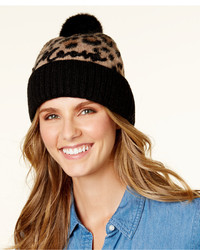 New york brushed leopard print beanie medium 6870173