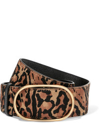 Leopard print calf hair belt leopard print medium 5258998