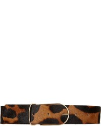 Leopard print pony hair belt medium 450443