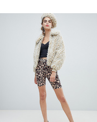 New Look Legging Shorts In Leopard Print
