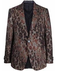 Etro Leopard Print Tailored Blazer