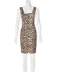 Alice + Olivia Leopard Bodycon Dress