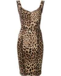 Dolce & Gabbana Leopard Print Bodycon Dress