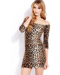 Forever 21 Spot On Bodycon Dress