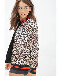 Forever 21 Leopard Print Bomber Jacket | Where to buy &amp how to wear