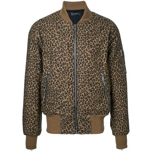 f1af9b35f640 Amiri Leopard Print Bomber Jacket, $1,031   farfetch.com   Lookastic.com
