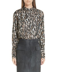 Calvin Klein 205W39nyc Leopard Print Silk Twill Blouse