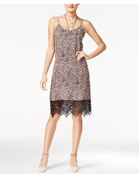 Shift Juniors Printed Lace Trim Slip Dress Created For Macys