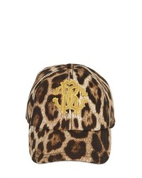 Leopard Printed Stretch Cotton Cap