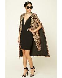 Forever 21 Longline Leopard Cape Jacket