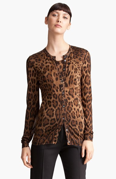Dolce & Gabbana leopard print cardigan Particular Cheap Sale Manchester Clearance Footlocker Pictures juiLrb