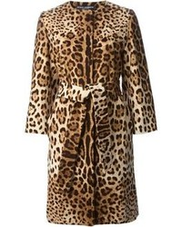 Brown Leopard Coat