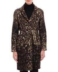Martin Grant Leopard Print Belted Coat Multi
