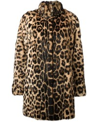 Leopard print coat medium 1361964