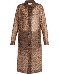 Leopard print frosted rubberised coat medium 3710394