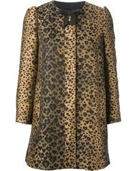 RED Valentino Bow Leopard Coat