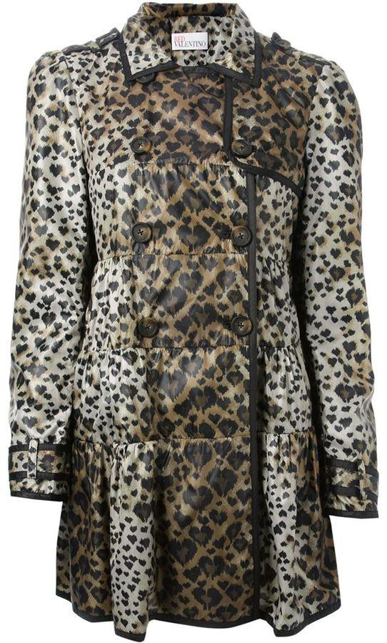 2f13e3626795 RED Valentino Leopard Print Coat, $901 | farfetch.com | Lookastic.com