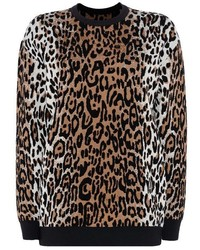 Stella McCartney Cheetah Jacquard Crew Neck Jumper