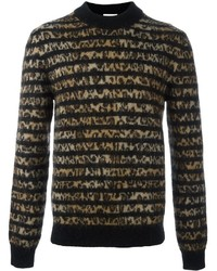 Saint Laurent Contrast Panel Sweater