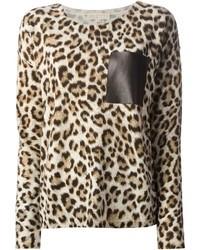 MICHAEL Michael Kors Michl Michl Kors Leopard Print Sweater