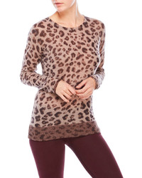 Ply cashmere leopard cashmere sweater medium 877110