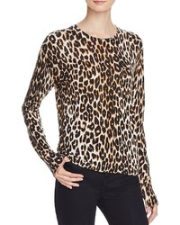 Shirly leopard silk cashmere sweater medium 877112