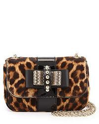 Brown Leopard Crossbody Bag