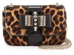 2b487e08b366 ... Crossbody Bags Christian Louboutin Sweet Charity Leopard Print Calf Hair  Mini Shoulder Bag ...