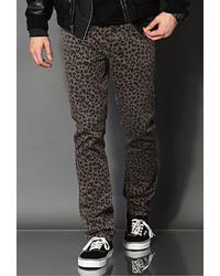 21men 21 Skinny Fit  Leopard Print