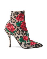 Dolce & Gabbana Printed Stretch Jersey Sock Boots