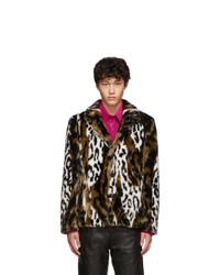 Brown Leopard Fur Coat