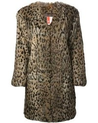 Brown Leopard Fur Coat