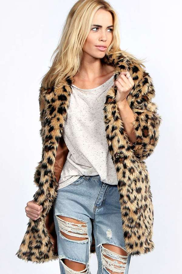 Boohoo Charlotte Leopard Faux Fur Coat | Where to buy & how to wear