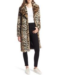 Kendall & Kylie Leopard Faux Fur Coat