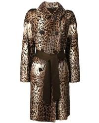 Liska antigone leopard print coat medium 167533