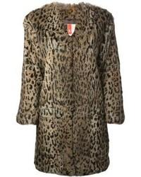 MSGM Leopard Print Fur Coat