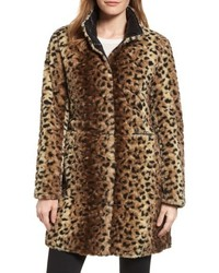 Reversible faux leopard fur coat medium 4952912